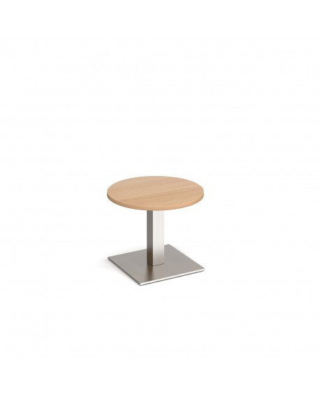 Brescia circular coffee table with flat square base