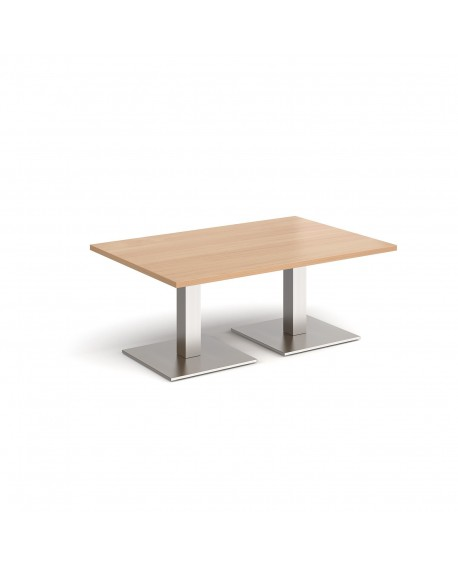 Brescia rectangular coffee table with square bases