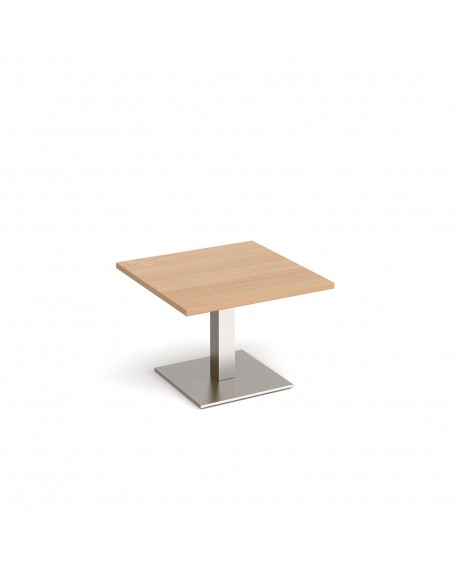 Brescia square coffee table with flat square base