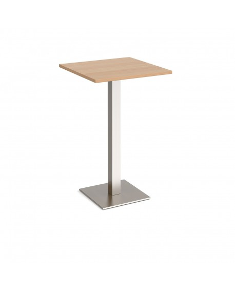 Brescia square poseur table with flat square base