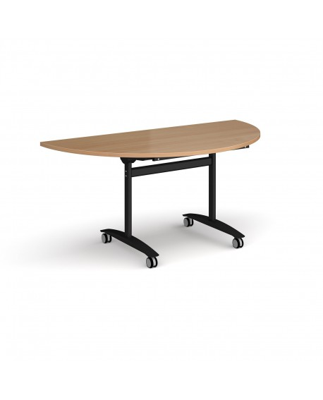 Semi circular deluxe fliptop meeting table