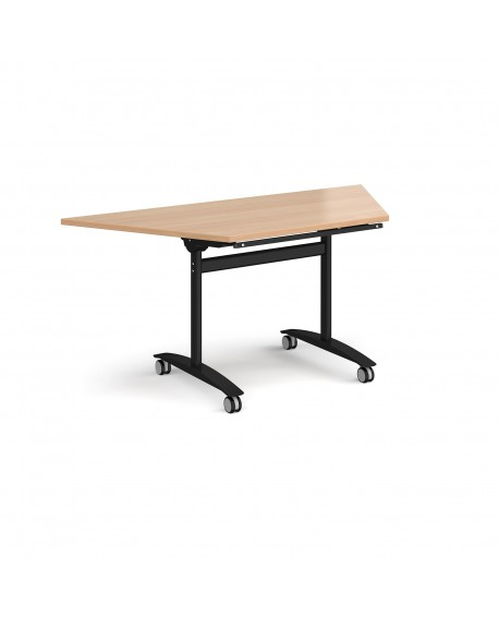 Trapezoidal deluxe fliptop meeting table