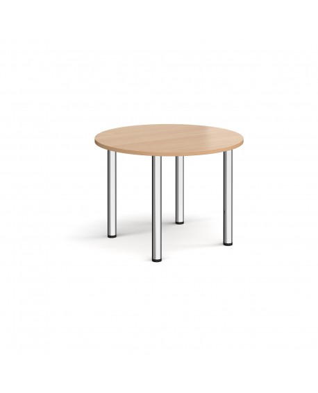 Circular radial leg meeting table