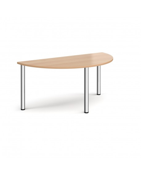 Semi circular radial leg meeting table