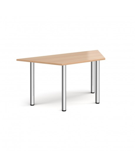 Trapezoidal radial leg meeting table