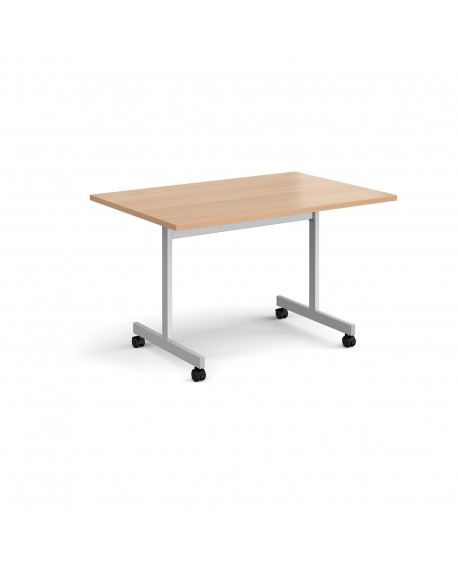 Rectangular fliptop meeting table