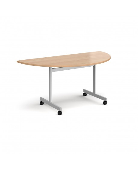 Semi circular fliptop meeting table