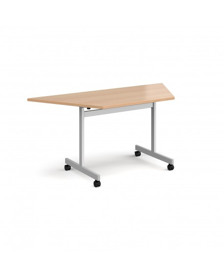 Trapezoidal fliptop meeting table