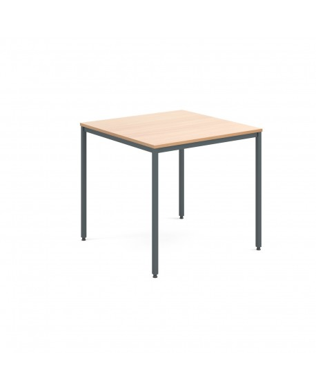 Rectangular flexi table with graphite frame
