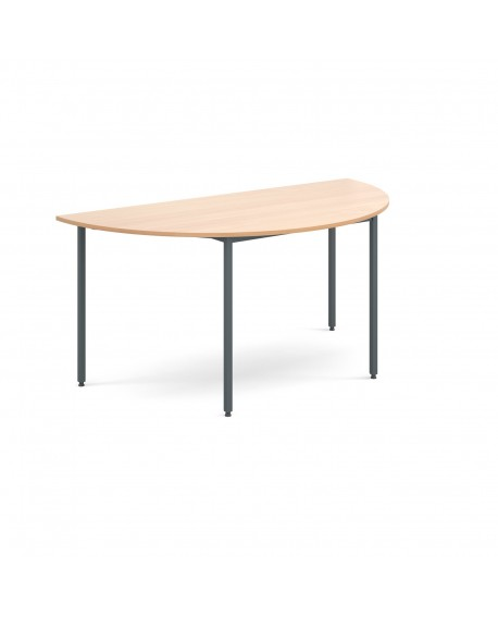 Semi circular flexi table with graphite frame