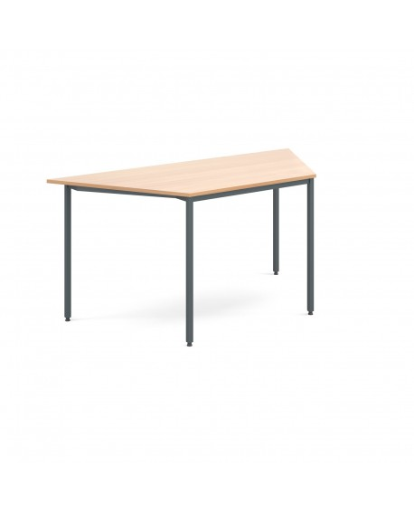 Trapezoidal flexi table with graphite frame