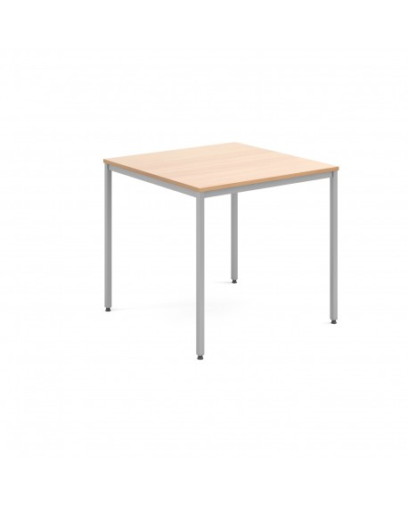 Rectangular flexi table with silver frame