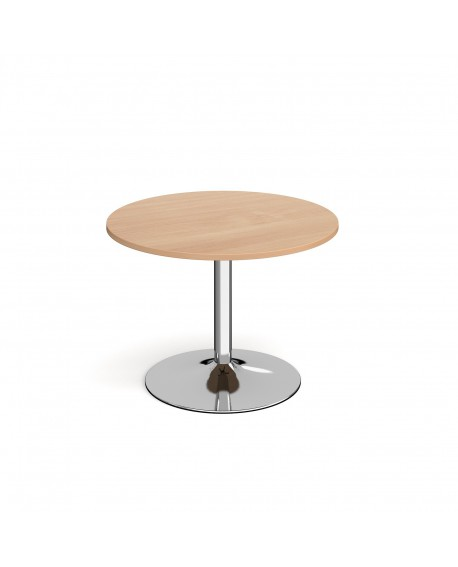 Genoa circular dining table with trumpet base