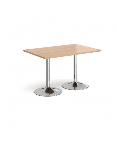Genoa rectangular dining table with trumpet base