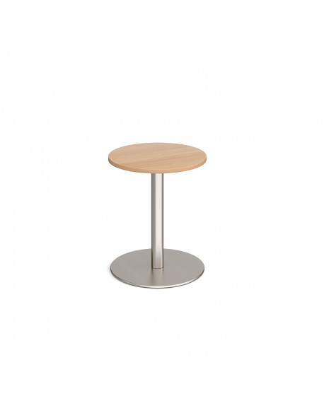 Monza circular dining table with flat round base