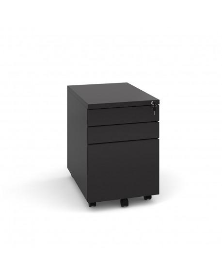 Steel 3 drawer wide mobile pedestal
