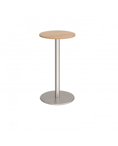 Monza circular poseur table with flat round base