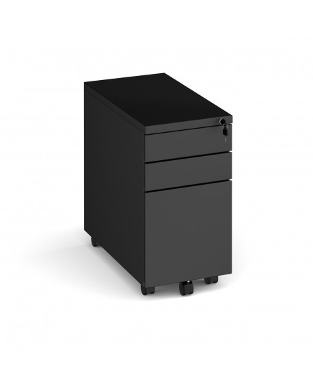 Steel 3 drawer narrow mobile pedestal