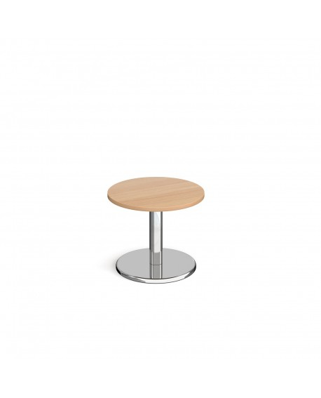 Pisa circular coffee table with round base