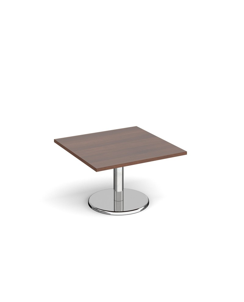 Square Coffee Table Vs Round: Pisa Square Coffee Table With Round Base