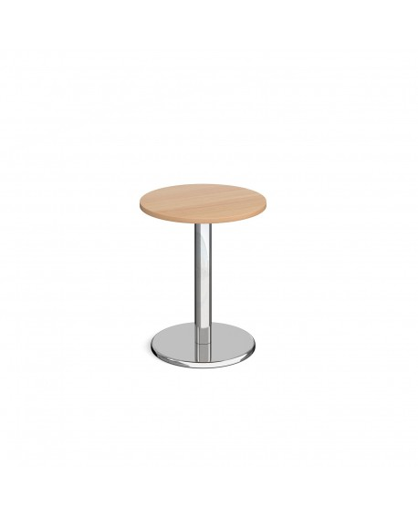 Pisa circular dining table with round base