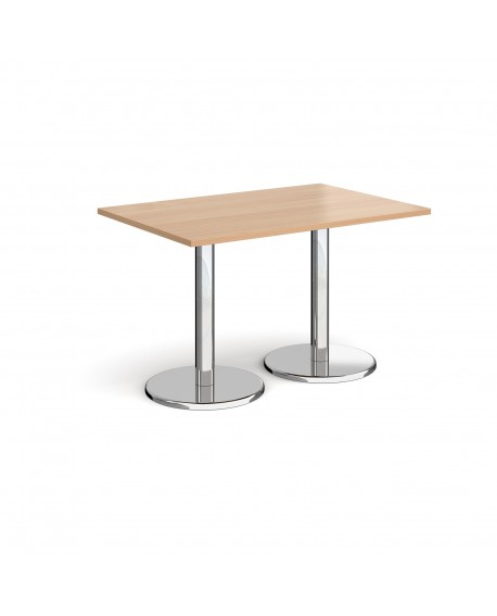Pisa rectangular dining table with round bases