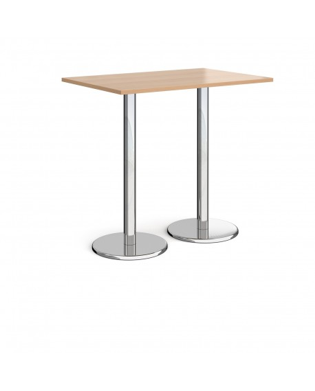 Pisa rectangular poseur table with round bases