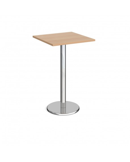 Pisa square poseur table with round base