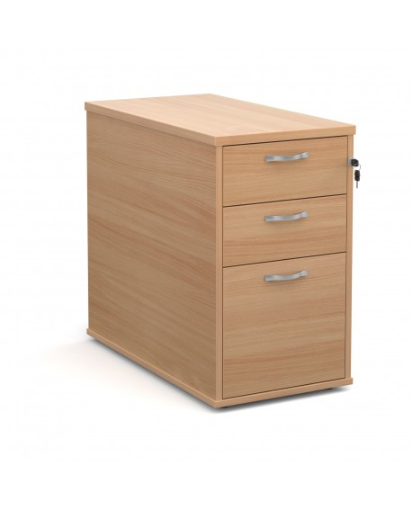 Desk high pedestal 800mm with silver handles