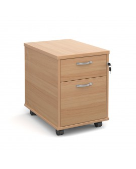 Mobile pedestal with silver handles