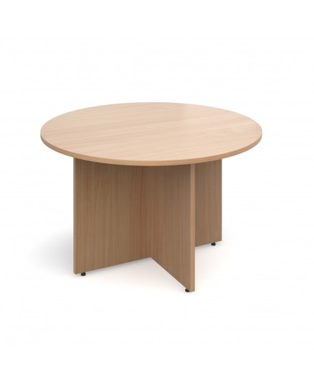 Arrow head leg circular meeting table