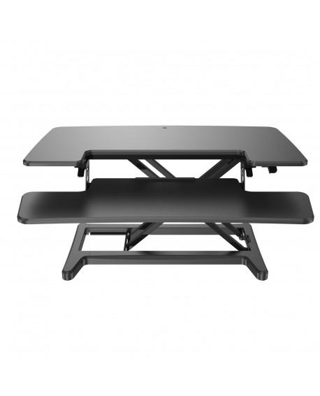 Sora height adjustable sit stand workstation for desks