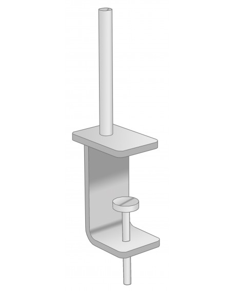 Universal desktop screen brackets (pair)