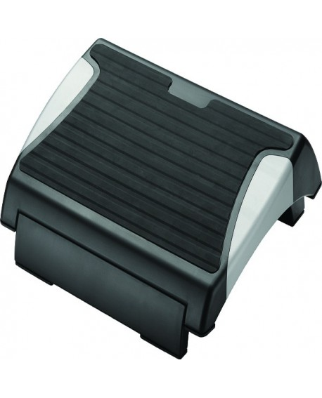 Q-Connect Black and Silver Rubber Foot Rest KF20076
