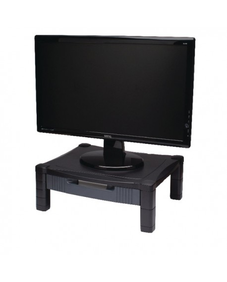 Contour Ergonomics Adjustable Monitor Stand With Drawer Black CE77685