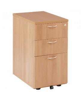 First Desk 3 Drawer High Pedestal