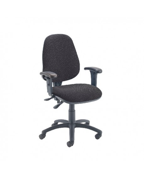 First High Back Operators Chair with Adjustable Arms