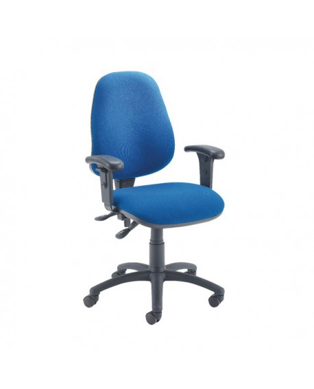 Office Hippo High Back Fabric Operators Chair with Adjustable Arms