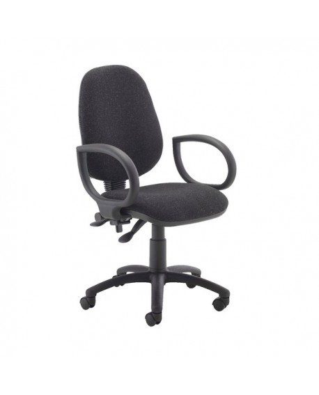 First High Back Operators Chair with Fixed Arms