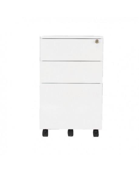Office Hippo 3 Drawer Under Desk Mobile Filing Steel Pedestal