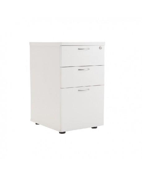 Office Hippo Heavy Duty 3 Drawer Under Desk Pedestal White