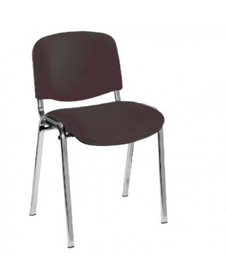 Office Hippo Heavy Duty Stackable Reception Chair Chrome Frame