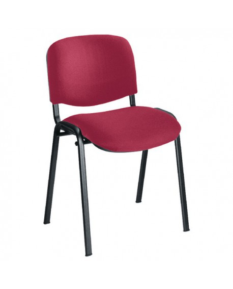 Office Hippo Heavy Duty Stackable Reception Chair Black Frame