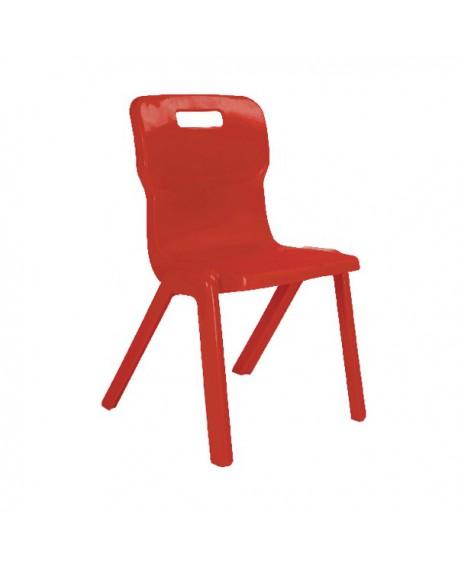 Titan One Piece School Chair Size 1 Red KF78502
