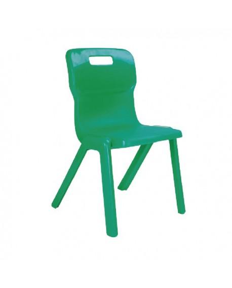 Titan One Piece School Chair Size 1 Green KF78504
