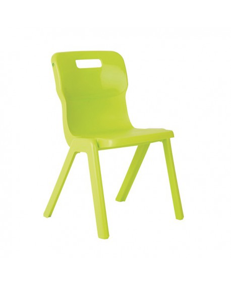 Titan One Piece School Chair Size 4 Lime KF78520