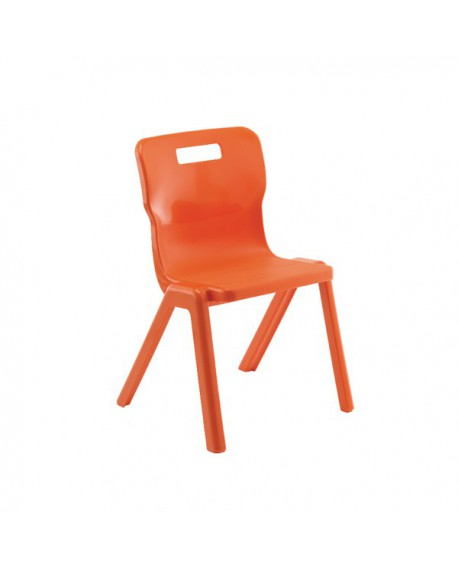 Titan One Piece School Chair Size 5 Orange KF78523