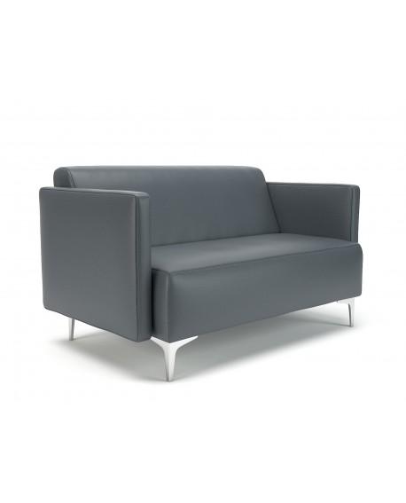 Napa Slim Arm Sofa Faux Leather