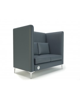 Altus Privacy Booth Faux Leather