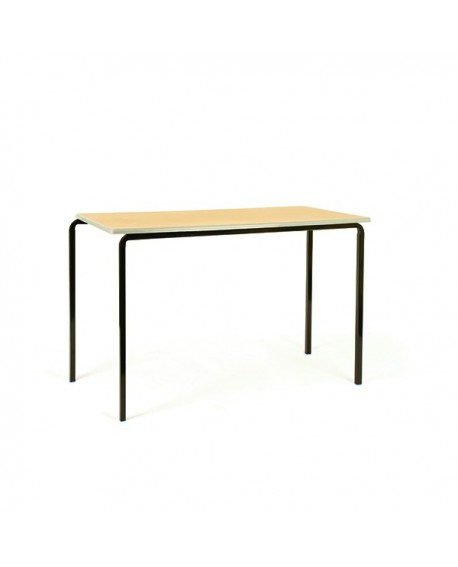 Jemini PU Edged Class Table W1200 x D600 x H760mm Beech/Black (Pack of 4) KF74567